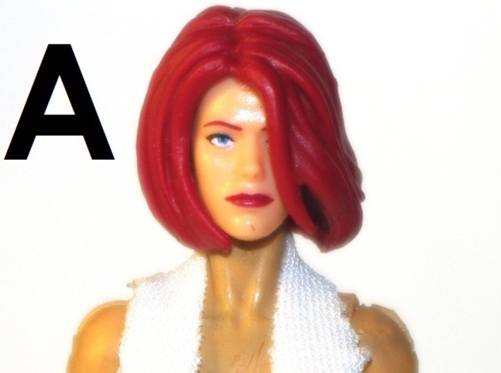 """1:18 Scale Action Figure FEMALE Neck Barbell Adapt 3d printed Peg """"A"""" Sample"""