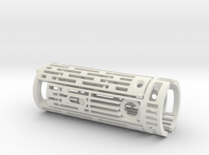 Obi Arena lightsaber hilt chassis for NANO PROFFIE 3d printed