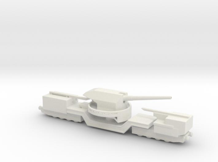 TM-1-180 railway artillery 1/72 3d printed