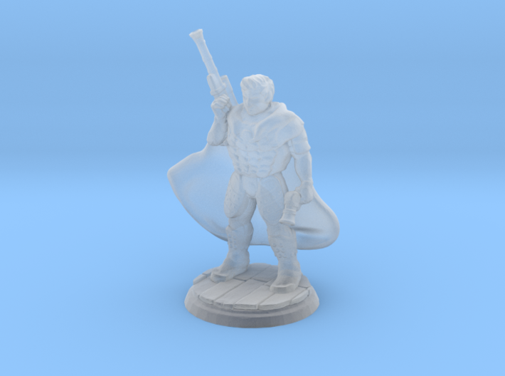 Gunslinger (28mm Scale Miniature) 3d printed