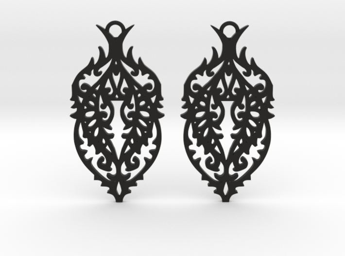 Thorn earrings 3d printed