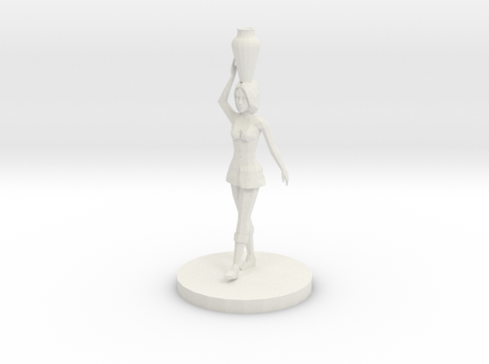 Woman with Vase on Her Head (28mm Scale Miniature) 3d printed