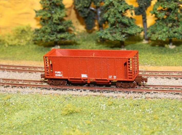 Ballast Hopper Car - Z scale 3d printed Painted & Detailed by Kevin Smith @kevsmiththai