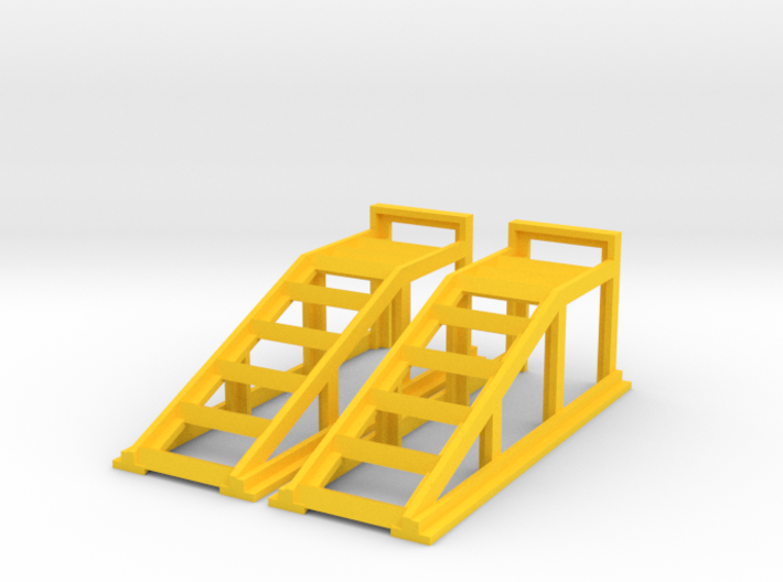 RC Garage 4WD Truck Car Ramps 1:18 Scale 3d printed