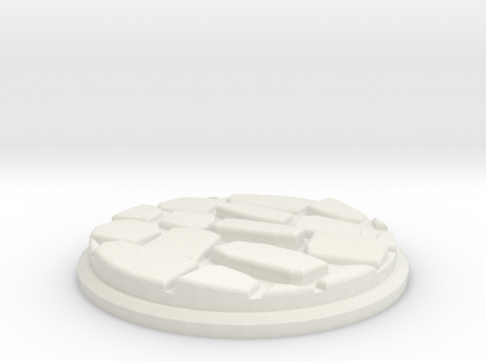 Uneven Cobblestone Miniature Base Plate (50mm) 3d printed