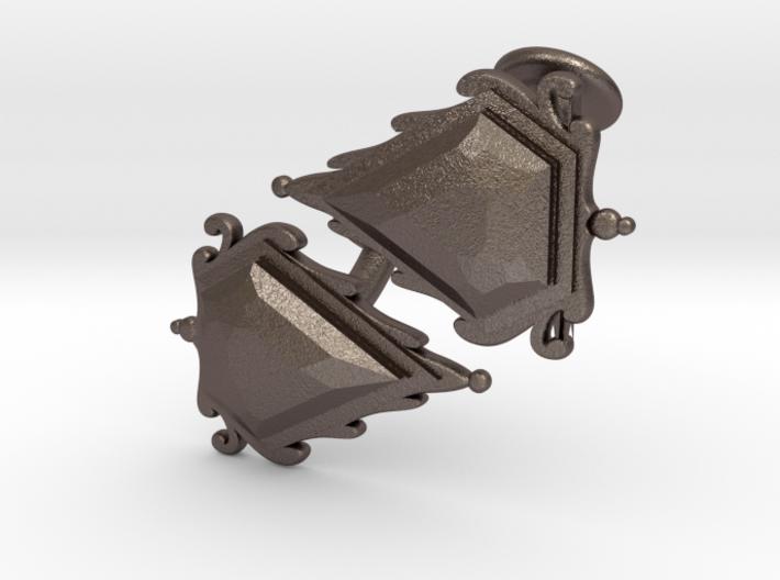 Cufflinks Mox Saphire v01 3d printed