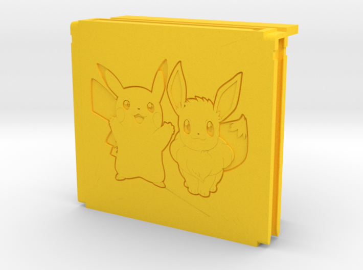 Switch game storage controller (Pikachu and Eevee) 3d printed