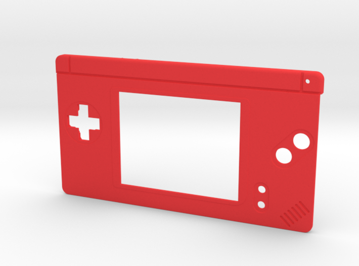 Gameboy Macro Faceplate V2 (DS Lite) - 2 Buttons 3d printed