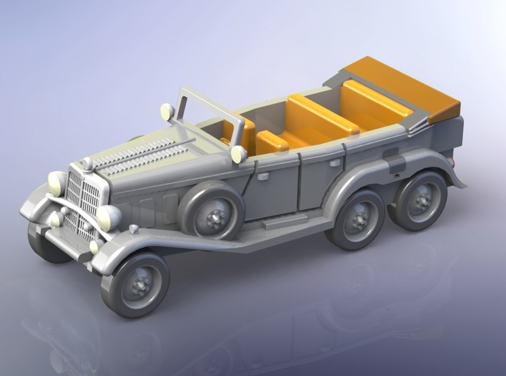 German Mercedes G4 Staffcar 1/120 TT 3d printed