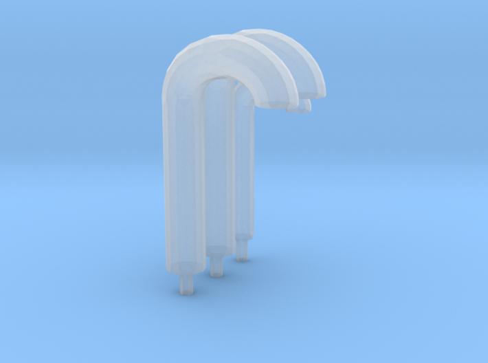 3 gooseneck vents 3d printed