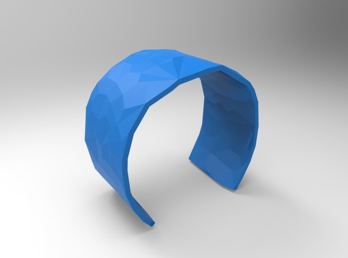Cuff Faceted 58mm 3d printed