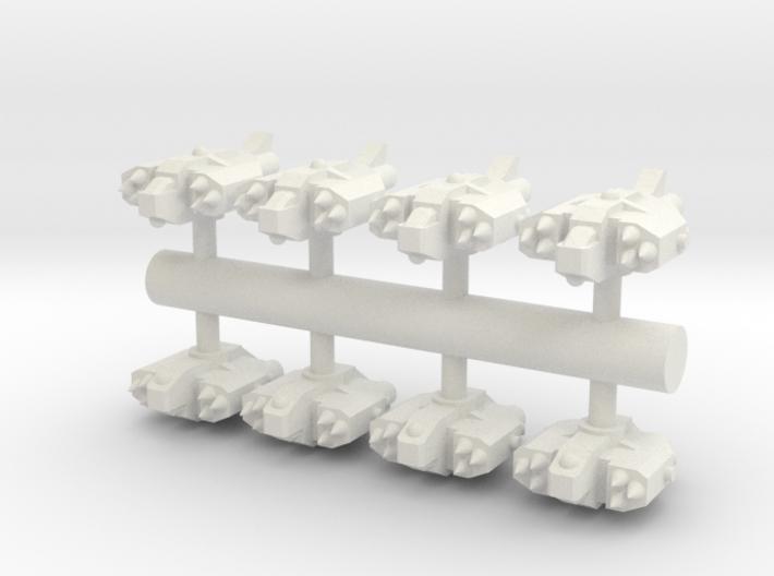 8 Human Alliance Gunships 3d printed