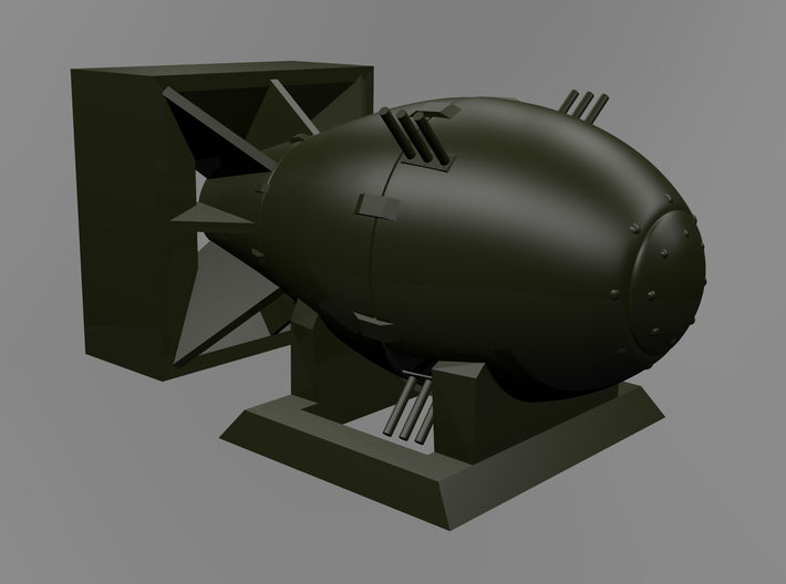 Fat Man Model With Display Stand 3d printed