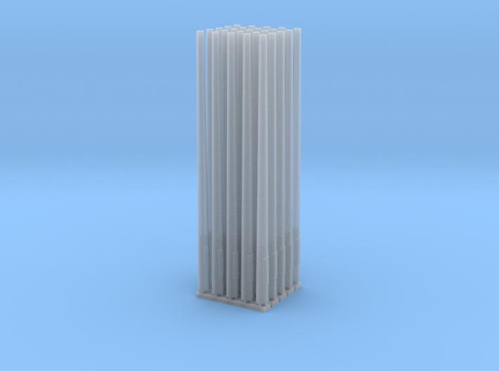 Betonmast 5m rund, hohl, DDR, 1:87, 25 Stück 3d printed