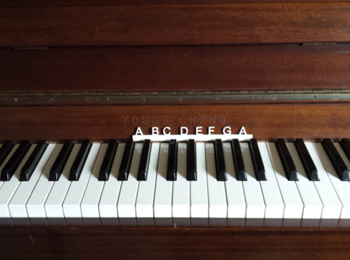 1 Octave Piano Teaching Tool 3d printed