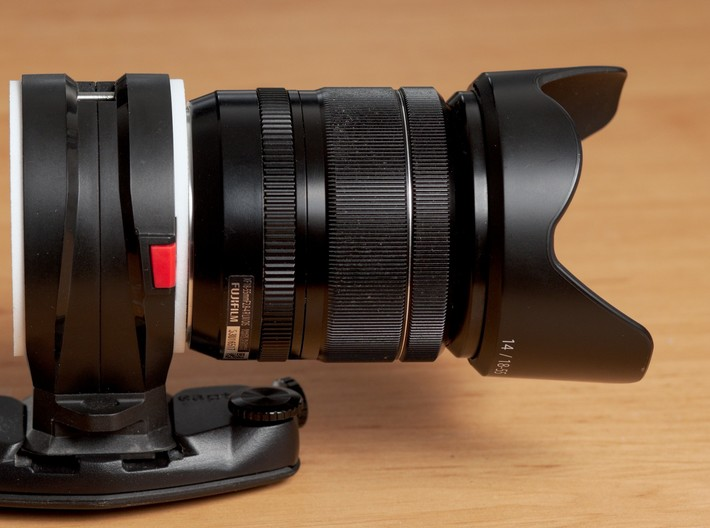 Mount for PD Capture Lens, Sony E to Fuji X 3d printed