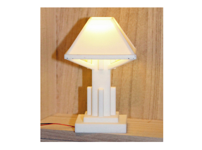 1/6 scale Arts and Crafts Lamp 3d printed Shown with added LED light