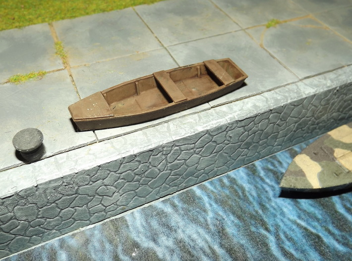 1/72nd scale Fishing boat (4 pieces) 3d printed