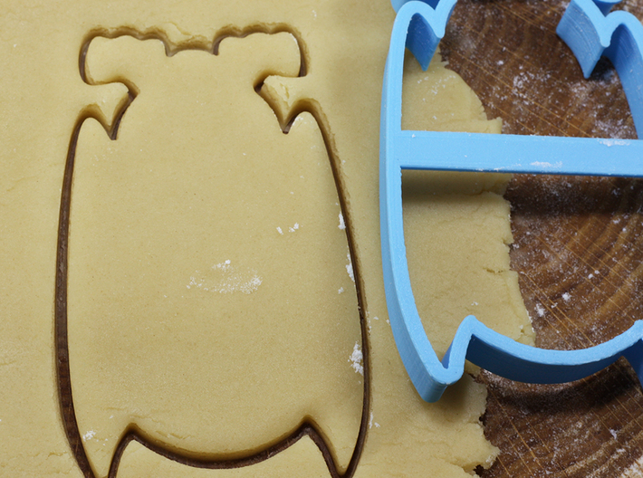 Bat 2 cookie cutter for professional 3d printed
