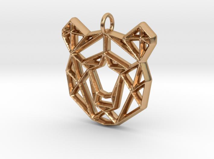 Geometirc Bear Shaped Pendant 3d printed