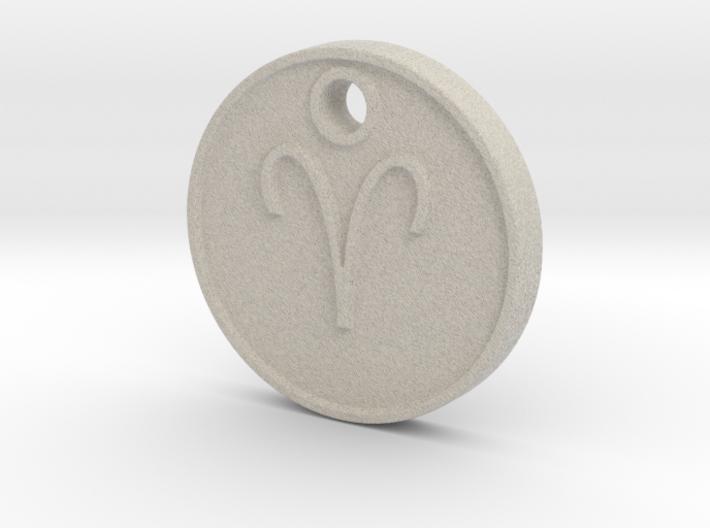 Aries Aromatherapy Pendant 3d printed