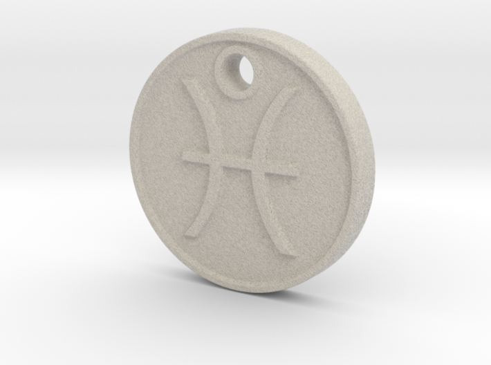 Pisces Aromatherapy Pendant 3d printed