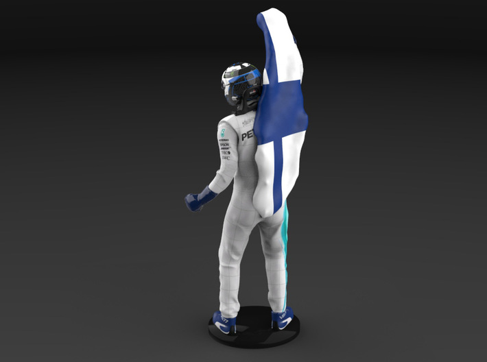 Valtteri 1/12 Flag Figure 2018 3d printed