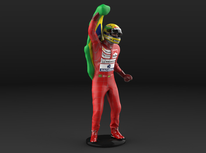 Ayrton 1/12 Flag Figure 1988 3d printed