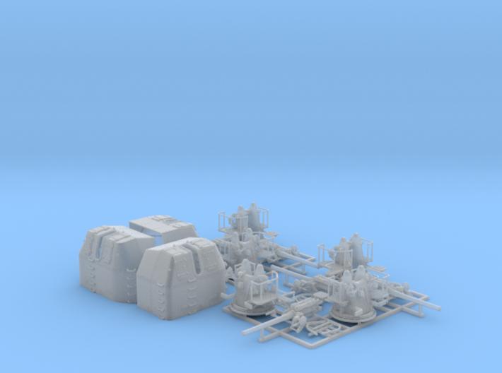 "1/144 RN 4"" MKV P Class Guns Closed Ports x5 3d printed 1/144 RN 4"" MKV P Class Guns Closed Ports x5"