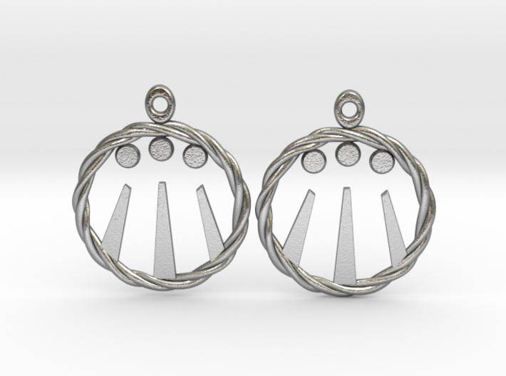 Celtic Awen Earrings 3d printed