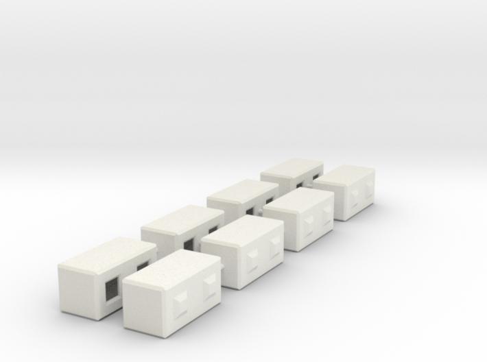 1/50th Precast Barrier Concrete Block 3d printed