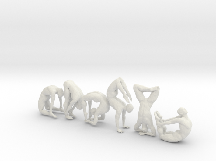Low-poly Strong man sitting collecting 003 3d printed