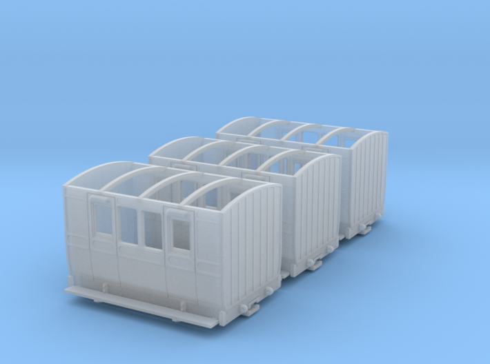 3x NWNGR 4w coach (009 scale) 3d printed