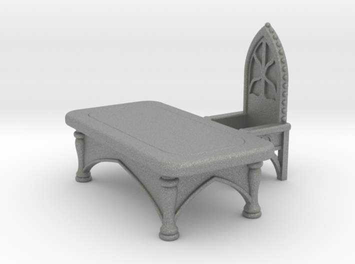 Gothic Desk with Chair. Set 1 3d printed