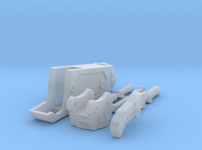1:50 Third Member Shear for Komatsu PC138 3d printed