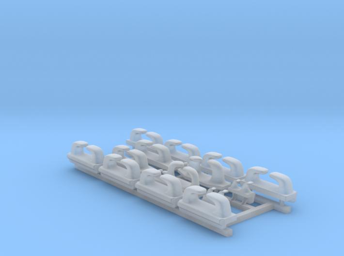 1/128 Royal Navy WW2 Leander Class Fairleads x14 3d printed 1/128 Royal Navy WW2 Leander Class Fairleads x14