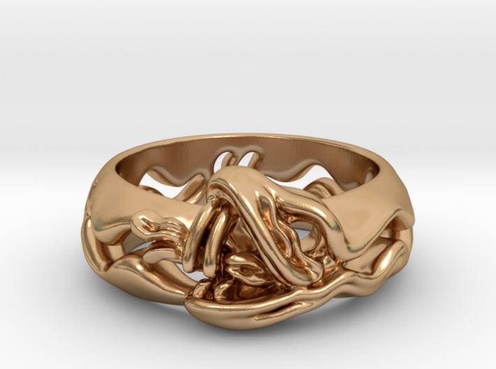 Sea Snake Ring. 3d printed