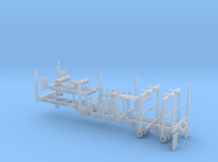 1/64th Quad Axle Log Trailer with Truck bunks 3d printed