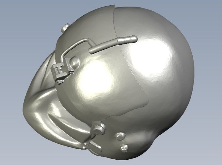 1/18 scale gunner HGU-56P helmet & shield head x 3 3d printed