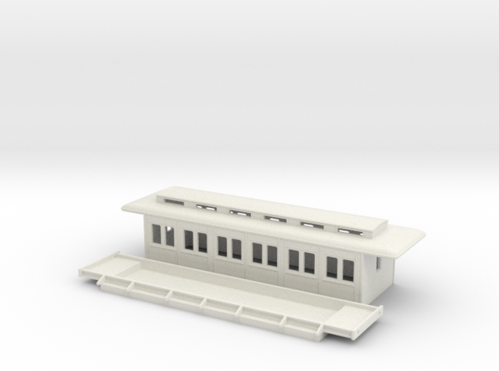 C3a - Swedish passenger wagon 3d printed
