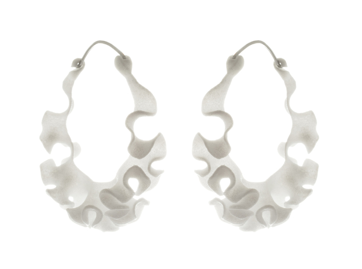 Cnidaria Earrings 3d printed