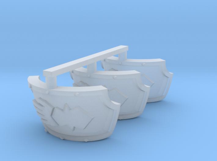 Steel Handed Warriors Centaur shoulder pads #2 3d printed