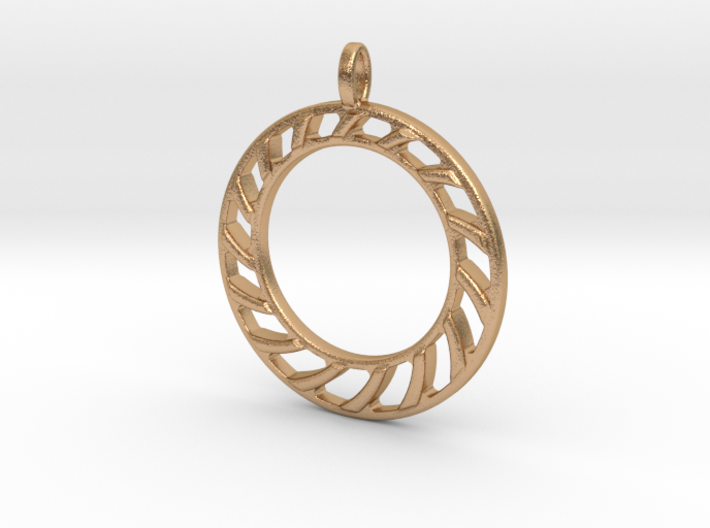 Pendant 2 excentric rings 3d printed