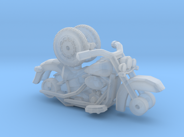 1/87 Scale Classic Soft Tail Motorcycle 3d printed