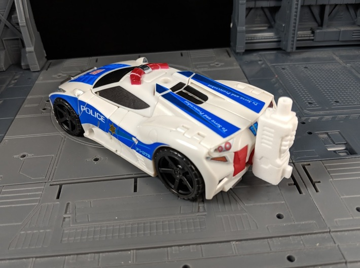 TF CW Streetwise Slim Car Cannon Adapter 3d printed Used as in Car Mode to add a 5 MM Peg to Car Rear
