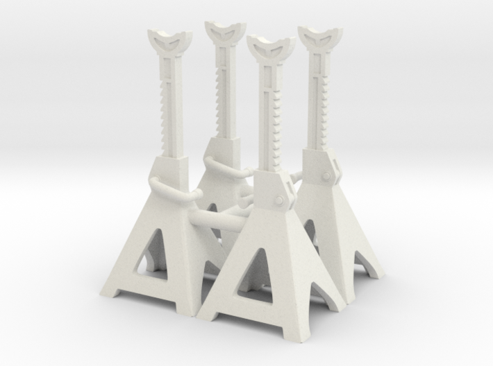 1:18 Scale Jack Stands x4 (High) 3d printed