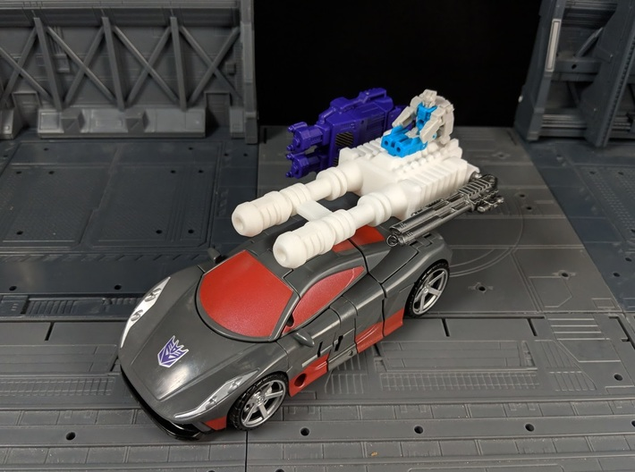 TF CW Brake-Neck Wildrider Car Cannon Seige 3d printed Multiple Combinations with other accessories in Vehicle mode