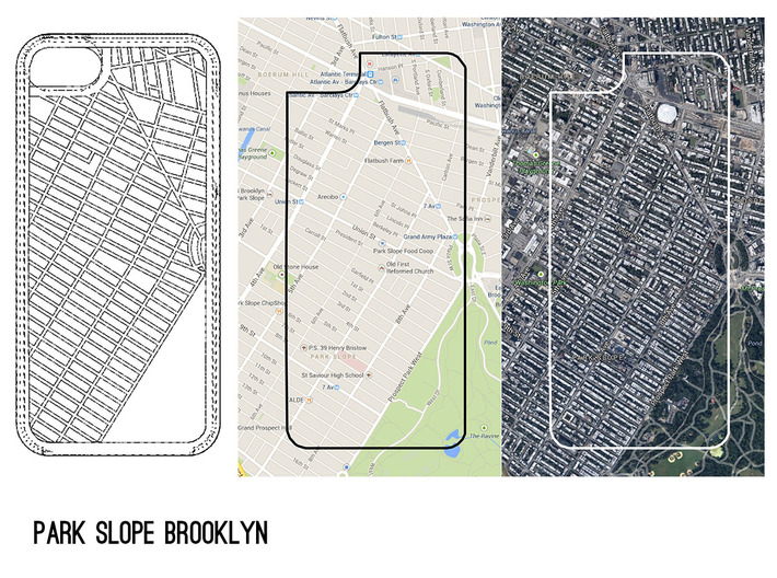 Park Slope Brooklyn Map iPhone 5/5s Case 3d printed