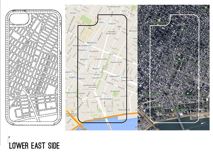 Lower East Side/ Bowery NYC Map iPhone 5/5s Case 3d printed