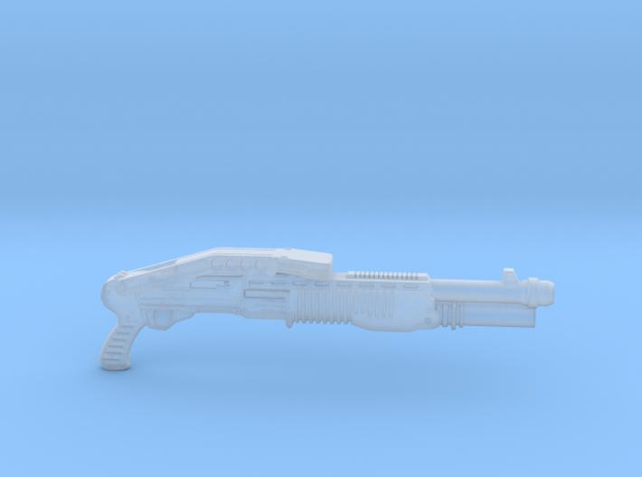cyberpunk - near future shotgun in 1/6 scale 3d printed